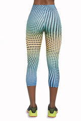 Разноцветные легинсы для фитнеса Wave-70 200 den