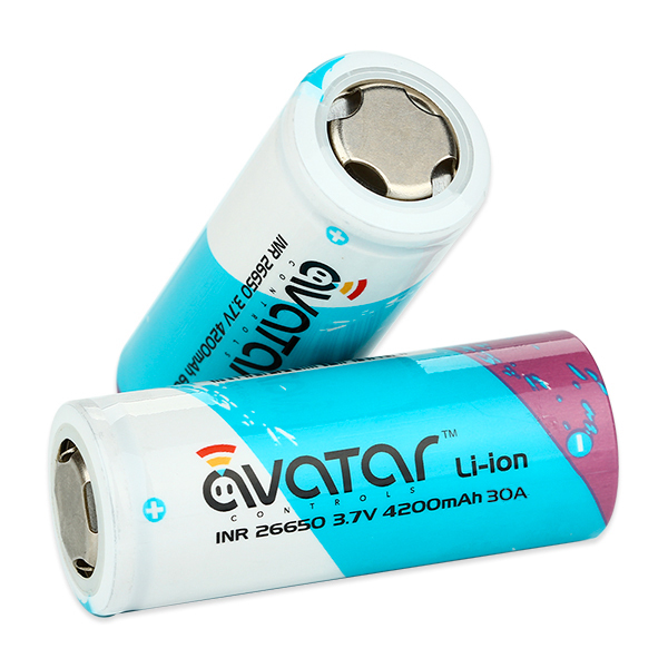 Аккумуляторы / ЗУ Аккумулятор 26650 AVATAR ICR 4200 mAh 30A avatar-inr-26650-4200mah-high-drain-battery-7c-60a-5.jpg