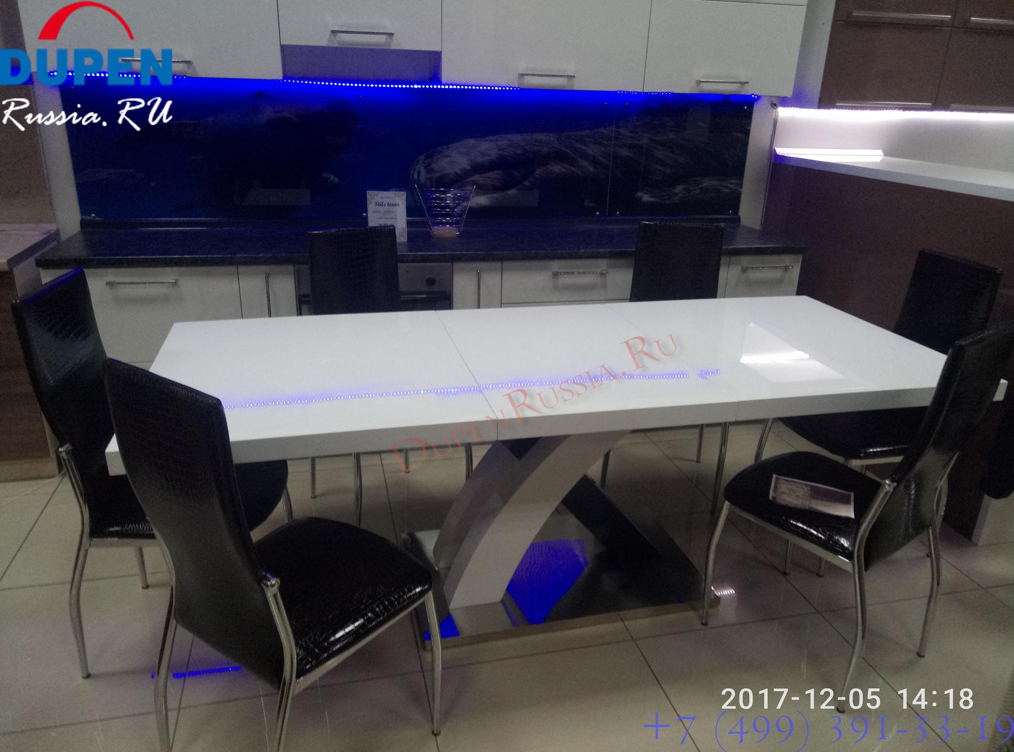 Стол ESF DT75 белый и стулья ESF L23 А3