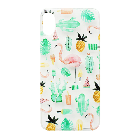 Чехол для IPhone X Flamingo&Pineapple