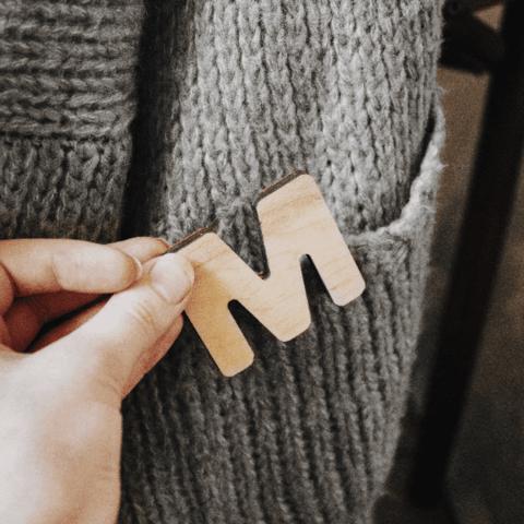 Деревянная азбука немецкий язык (размер мини)