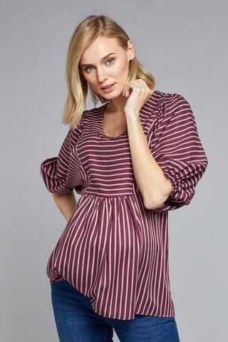 Блузка для беременных и кормящих 10766 бордовый