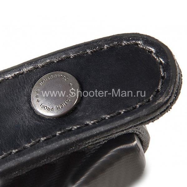 Кобура кожаная поясная для ПСМ ( модель № 2 ) Стич Профи