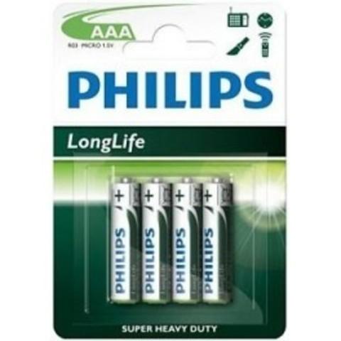 Батарейки Philips R03, AAA (4/48) BL