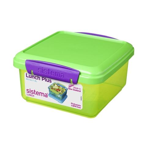 Ланч-бокс Sistema Lunch Plus зеленый  1,2 л