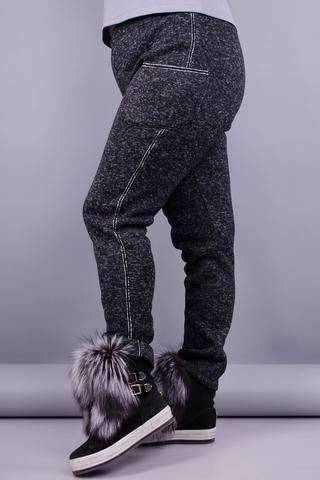 Баунті. Жіночі спортивні штани плюс сайз. Чорний.