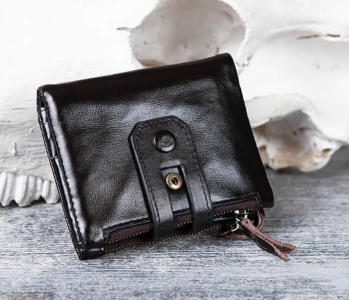 WL307-1 Вместительный мужской кошелек из черной кожи фото 02