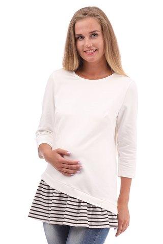 Блузка для беременных 09981 молочный