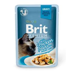 Пауч для котят, Brit Premium Gravy, кусочки куриного филе в соусе