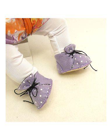 Ботиночки из фетра на подкладке - На кукле. Одежда для кукол, пупсов и мягких игрушек.
