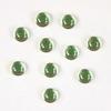 Кабошон круглый Чешское стекло, цвет - светло-зеленый, 5 мм, 10 штук