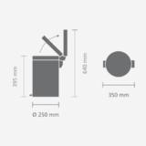 Мусорный бак Brabantia (20л) Retro, артикул 482526, производитель - Brabantia, фото 7