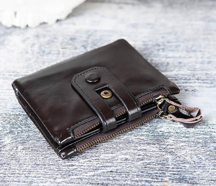 WL307-1 Вместительный мужской кошелек из черной кожи фото 03