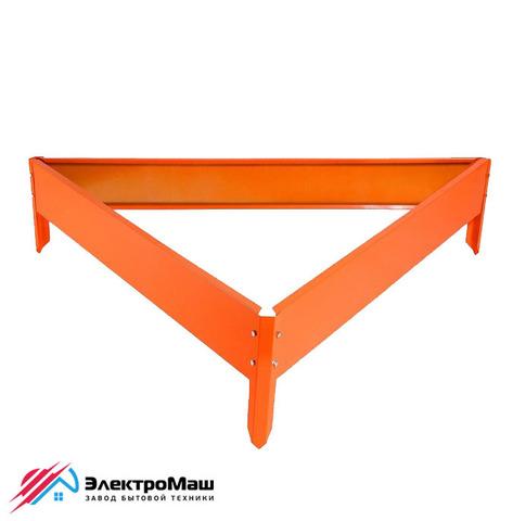Клумба оцинкованная треугольная 625х625х625 мм, оранжевая