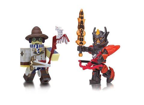 Набор фигурок Роблокс Торговец оружием и Генерал Стража Огня - Roblox Archmage Arms Dealer and Flame Guard General, Jazwares