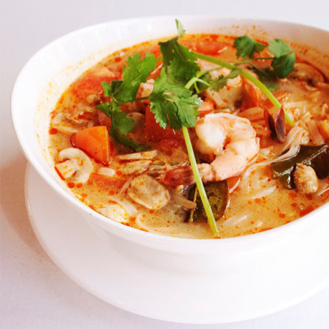 Тайский суп с креветками рецепт
