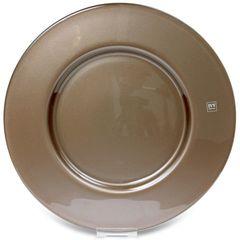 Тарелка подстановочная 34см IVV Aria коричневый металлик
