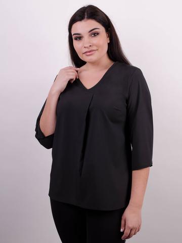 Леона. Оригінальна блуза size plus. Чорний.