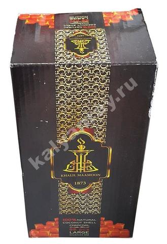 Кокосовый уголь для кальяна Khalil Mamoon 1 кг 96 кубиков купить в Москве