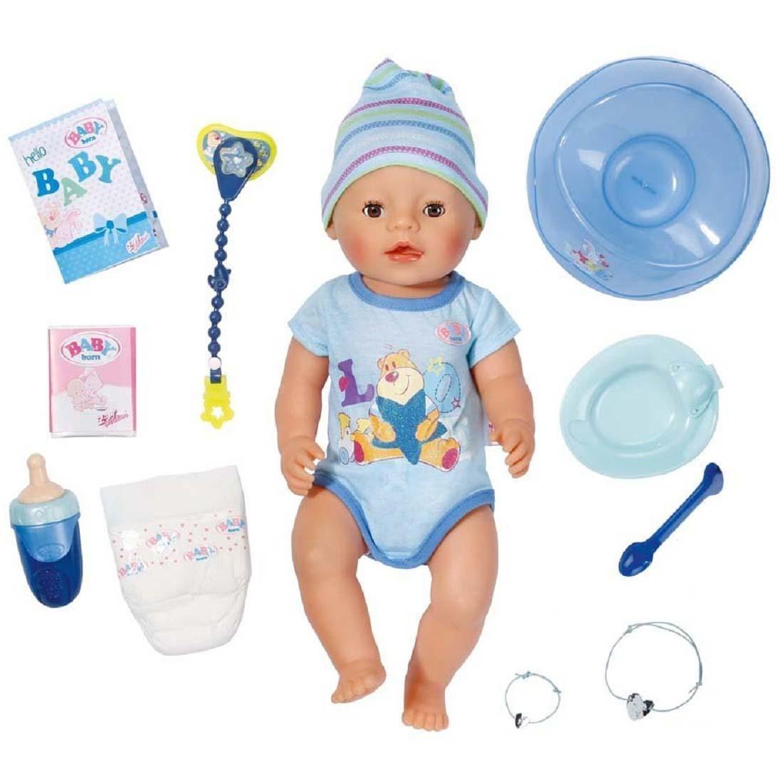 Беби Бон Мальчик в голубом комбинезоне купить в интернет