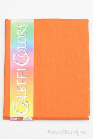 Наволочки 2шт 70x70 Caleffi Raso Tinta Unito оранжевые