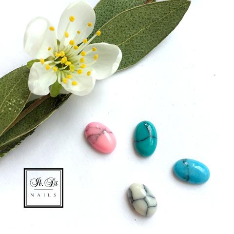 Камни натуральные овал для дизайна, розовый (1шт)