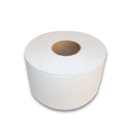 Бумага туалетная д/дисп 1сл бел макул втул 200м 12рул/уп 200W1