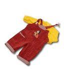 Полукомбинезон из вельвета - Желтый. Одежда для кукол, пупсов и мягких игрушек.