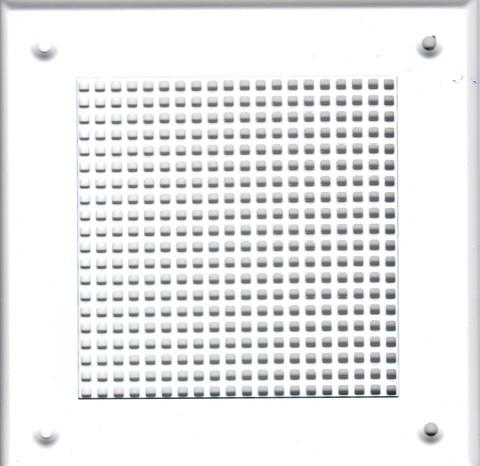 Решётка 210*210 белая, мелкая клетка