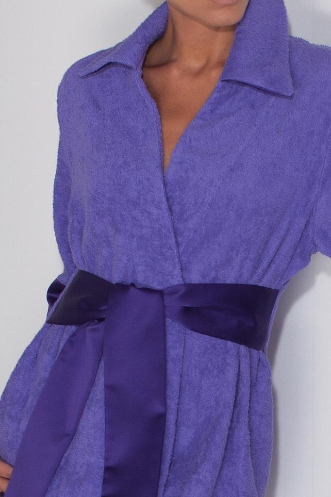 Фиолетовый махровый халат Luna di Giorno