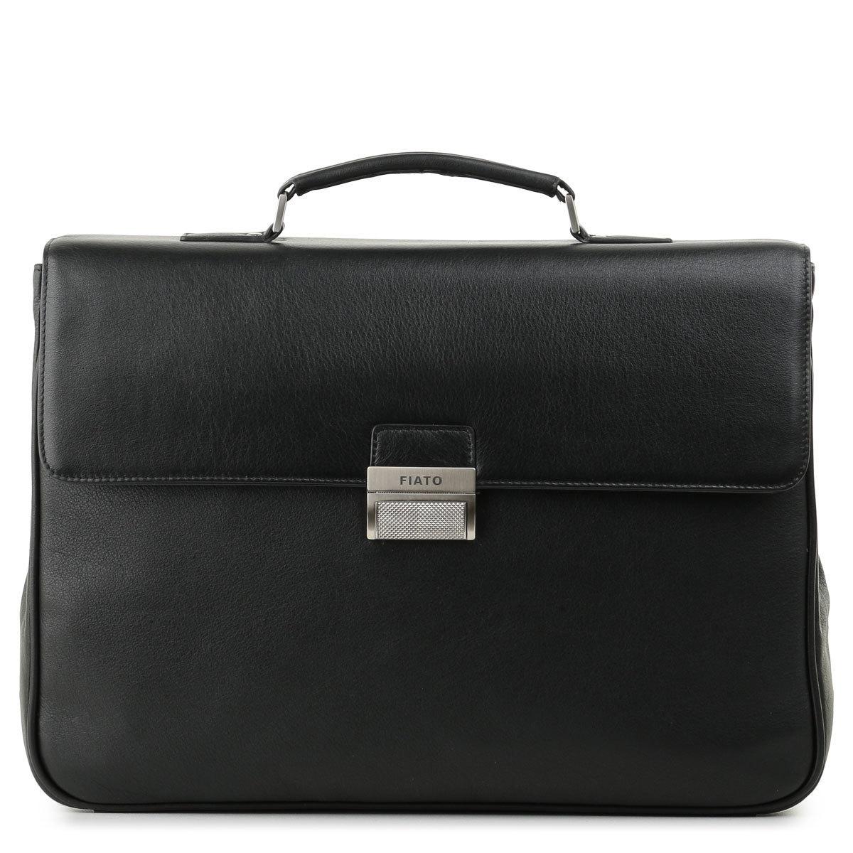 м13649 Fiato  кожа черный  (портфель мужской)