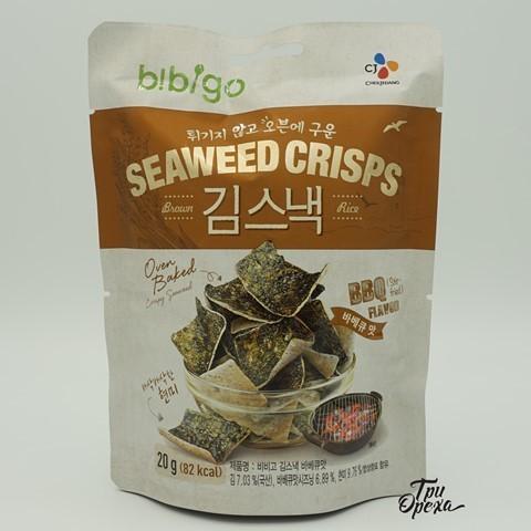 Рисовые чипсы с морской капустой со вкусом