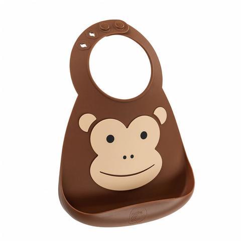 Make My Day Детский нагрудник, коричневый Monkey