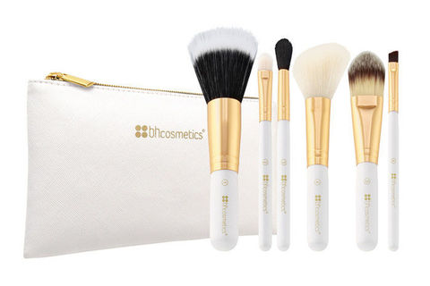 Набор кистей 6 шт Bright White - 6 Piece Brush Set with Cosmetic Bag BH Cosmetics (USA)