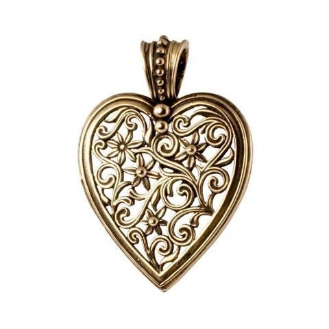 Подвеска кулон Ажурное Сердце из бронзы RH01312