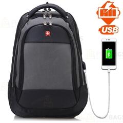 Рюкзак SWISSWIN 2016 USB Серый