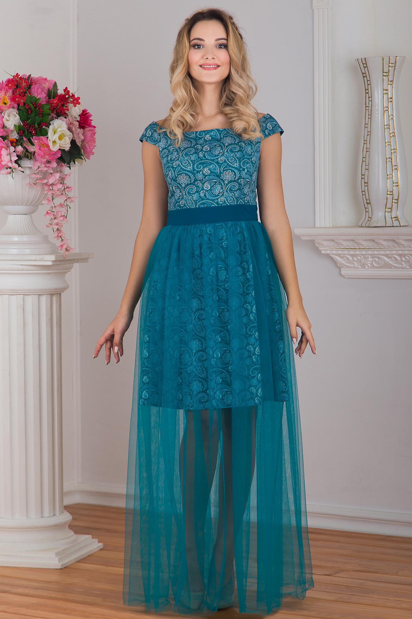Платье вечернее Нефритовое