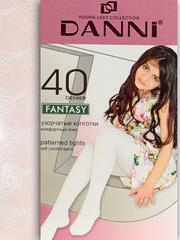 DFT111-001 FANTASY40 колготки детские, белые