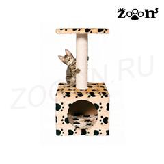 Trixie домик для кошки Zamora, высота 61 см, кошачьи лапки