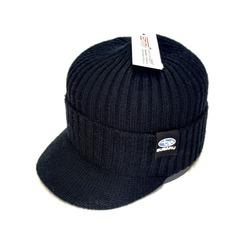 Кепка вязаная с логотипом Субару (Бейсболка Subaru) черная