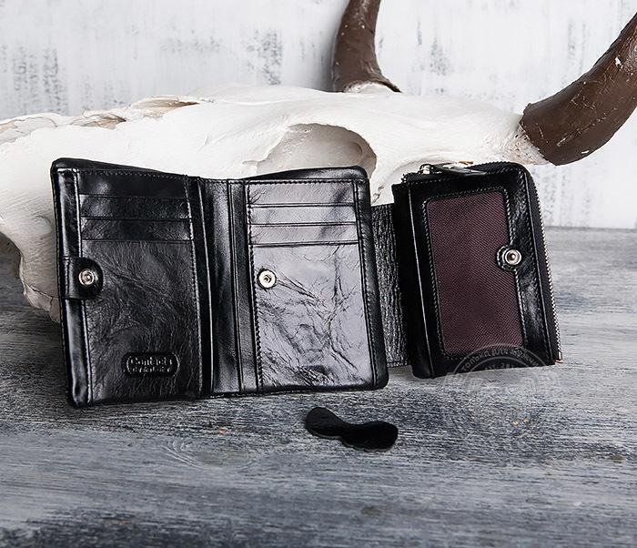 WL280-1 Вместительный мужской кошелек с монетницей фото 06