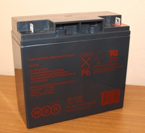 Аккумулятор WBR 17А/ч  GP12170