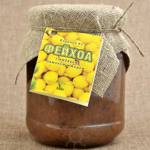 Фейхоа с имбирем, лимоном и медом АРП, 600г