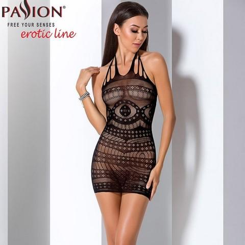 Красивое платье сетка с узорами черное