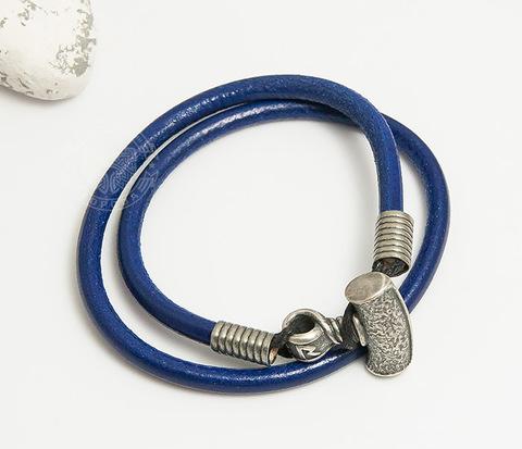 BD001-068 Мужской браслет из синего шнура с молотом Тора