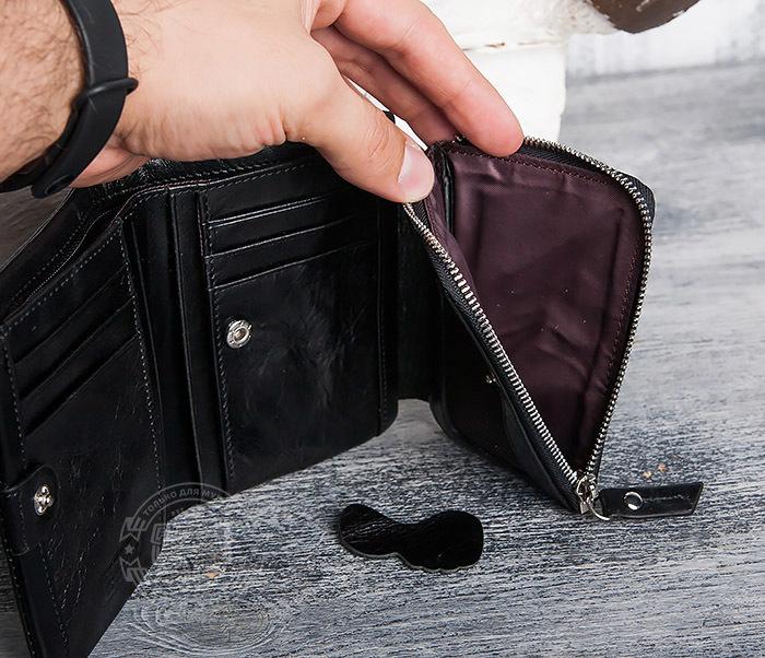WL280-1 Вместительный мужской кошелек с монетницей фото 08