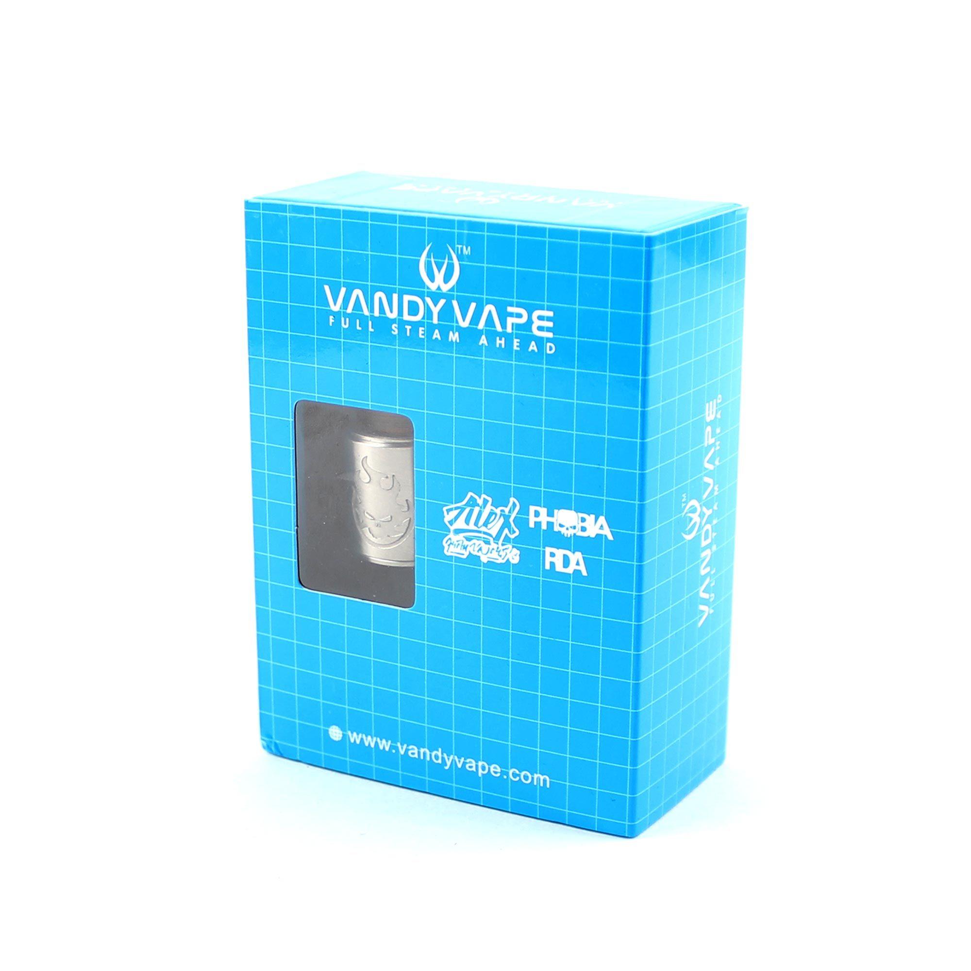 Фирменная коробка Vandy Vape Phobia RDA (Clone)