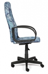 """Кресло компьютерное Лидер (Leader) — принт """"Карта на синем"""""""