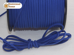 Шнур замшевый синий 3*1,5 мм