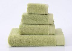 Seashells-6 зеленое махровое  полотенце Valtery